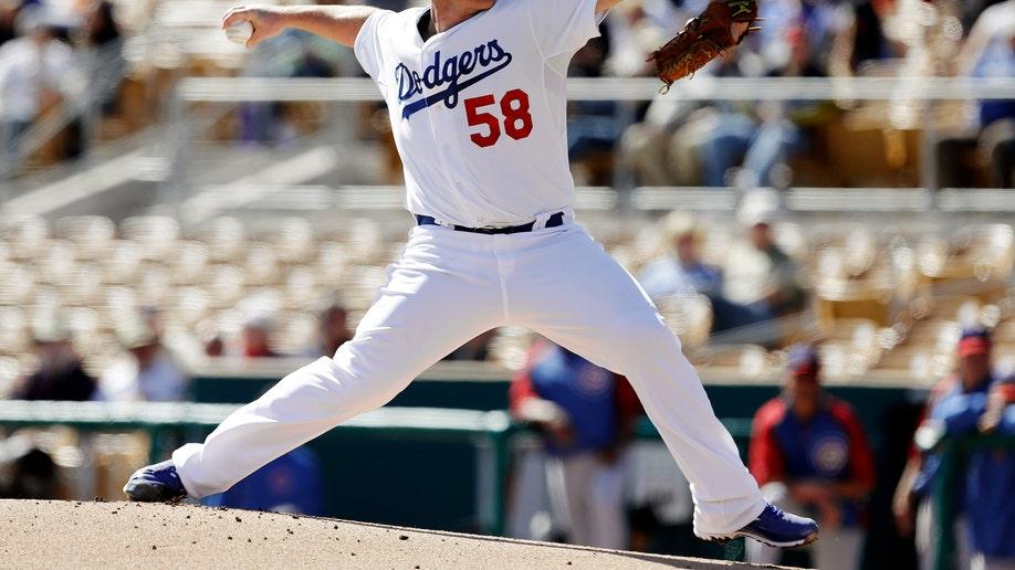 a75f1cca-Cubs Dodgers Spring Baseball