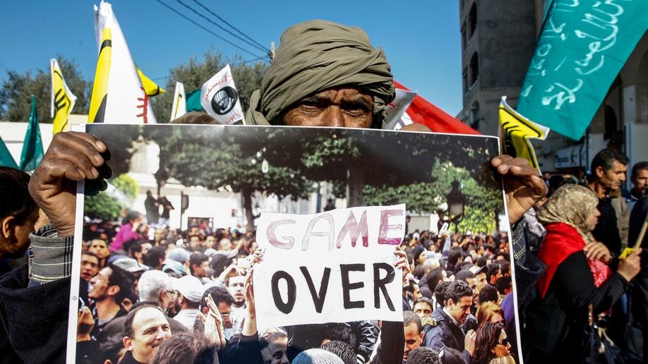 APTOPIX Tunisia Protest