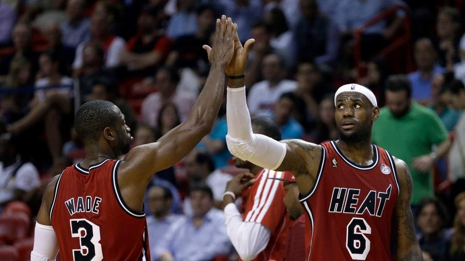 APTOPIX Trail Blazers Heat Basketball