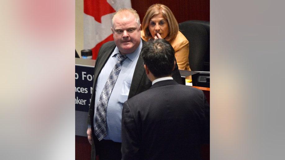 APTOPIX Canada-Toronto-Mayor
