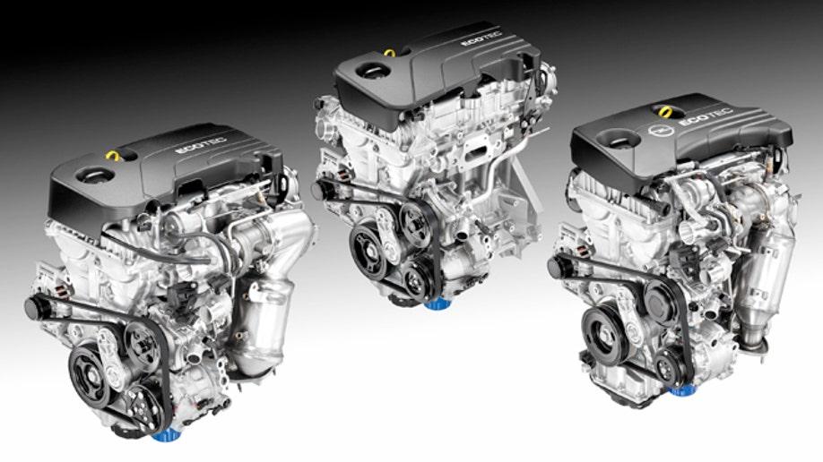 Ecotec 1.0L I-3, 1.4L I-4, 1.5L I-4 engines