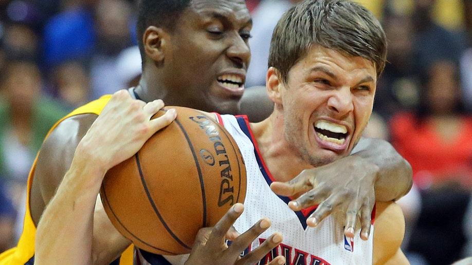 APTOPIX Pacers Hawks Basketball