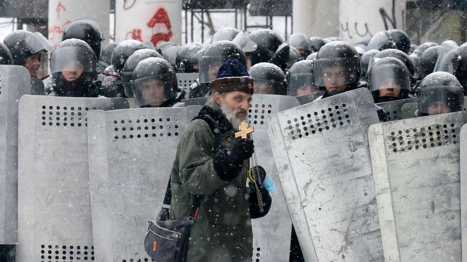 Ukraine Priests and Protests
