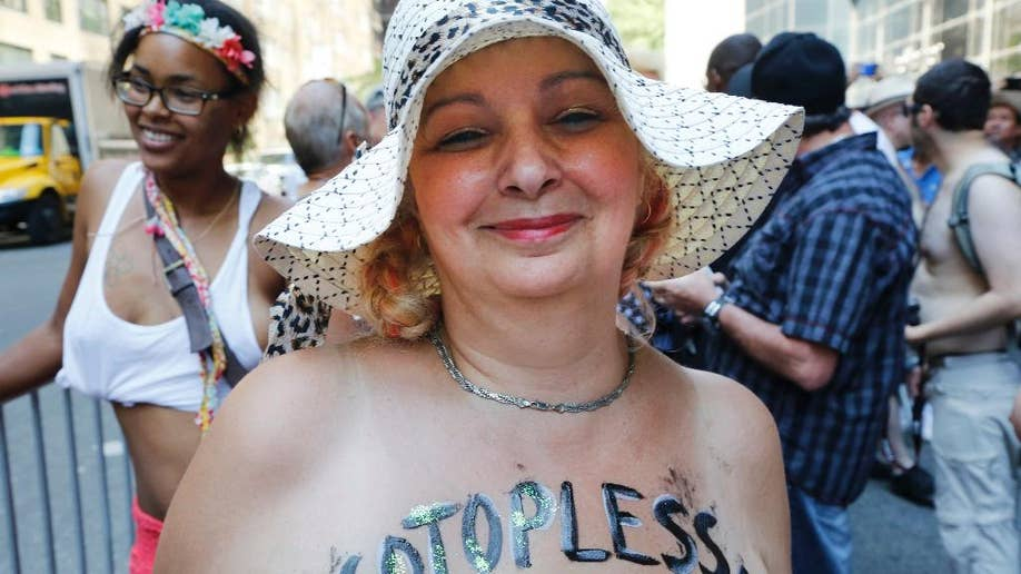Women bare breasts for equality in New York City | Fox News