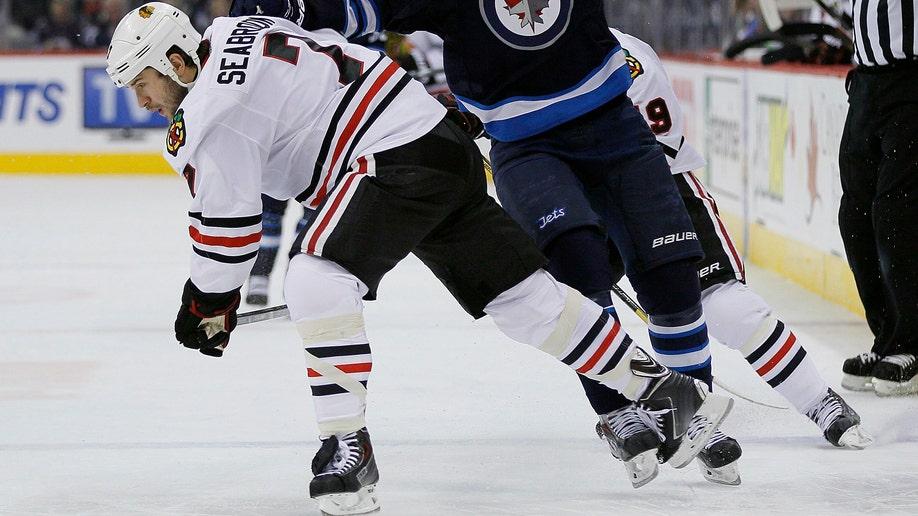 Blackhawks Jets Hockey