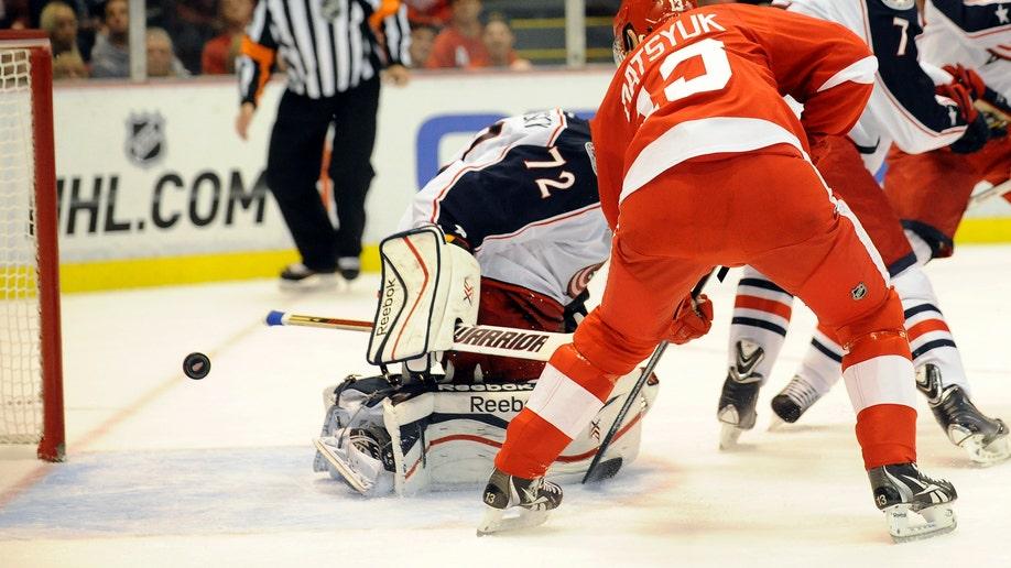106151ec-Blue Jackets Red Wings Hockey