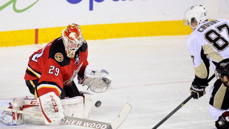 Penguins Flames Hockey