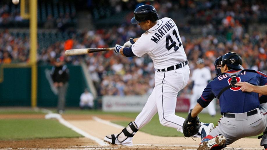 Tigers Martinez Injured Baseball
