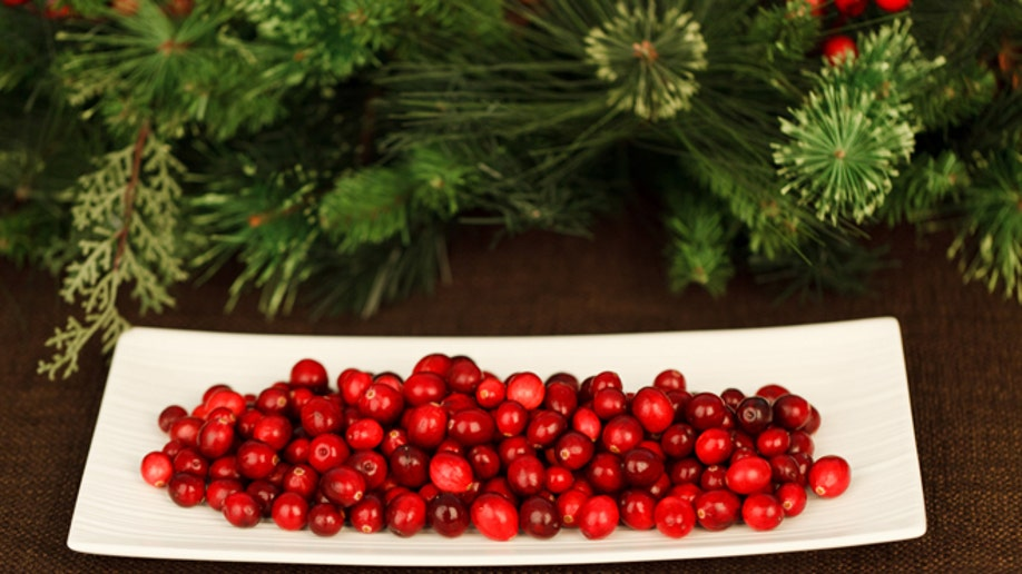 cranberries on a plate