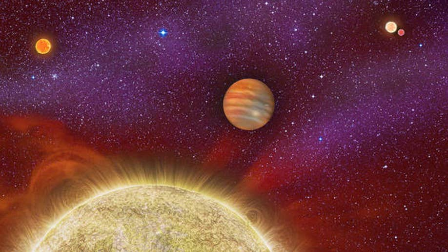 95bc128c-One Planet, Four Stars: The second known case of a planet in a quadruple star system