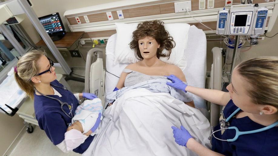 mannequins michigan nurse training AP