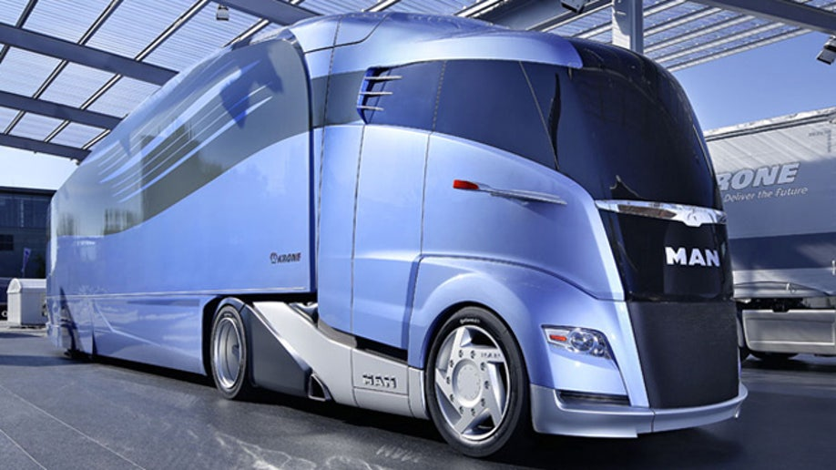 Build A Toyota >> MAN unveils super-streamlined semi truck | Fox News