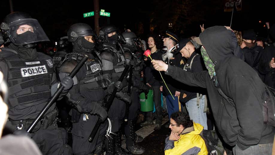 APTOPIX Wall Street Occupy Portland