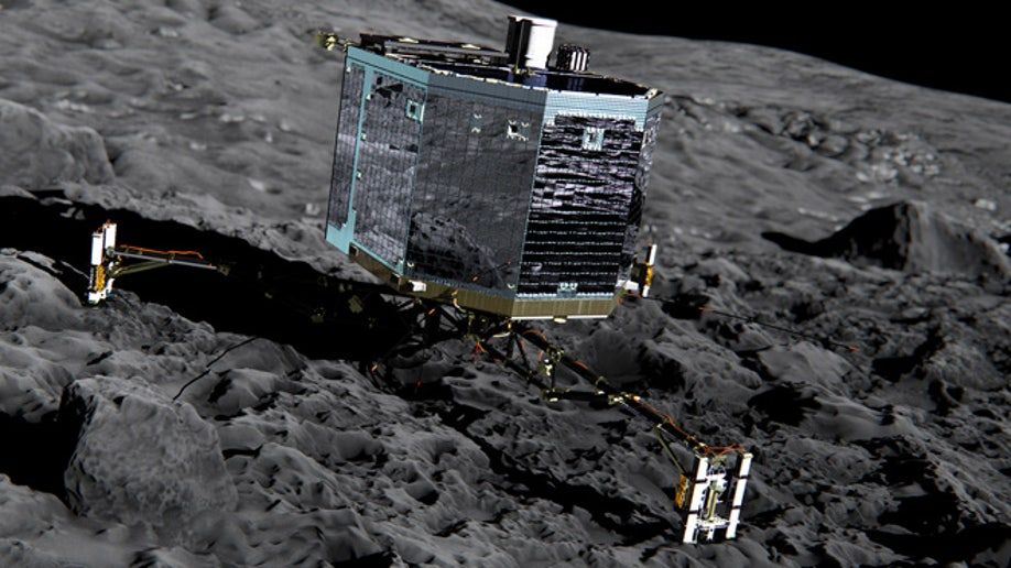 Comet lander Philae awakes from hibernation   Fox News
