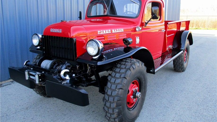 wagon power dodge 1953 tom selleck trucking block auction fox foxnews