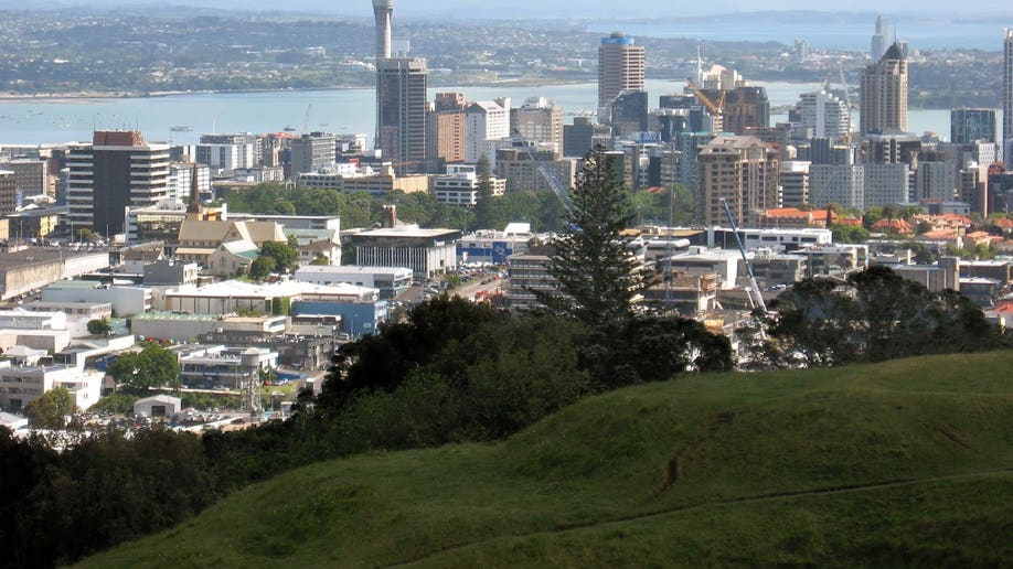 view of Auckland with Sky Tower