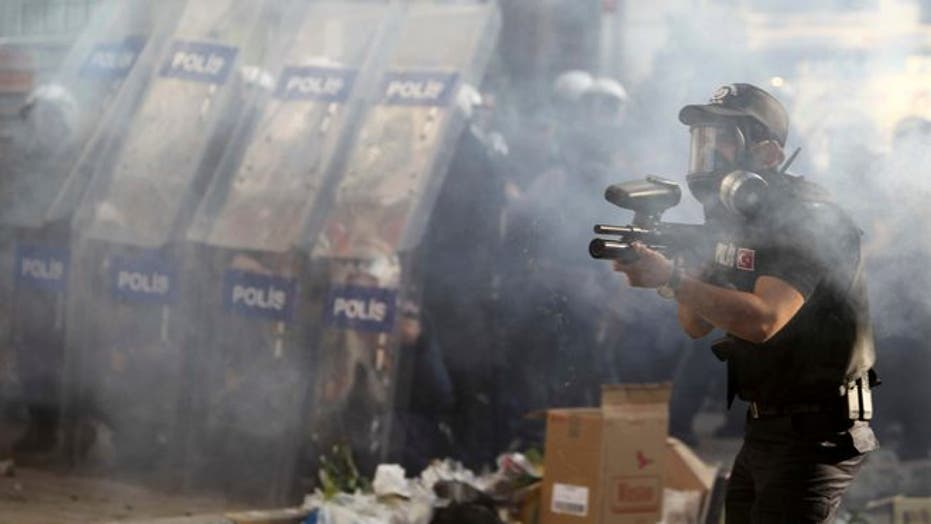 Brazilian Tear Gas Used In Istanbul Protests