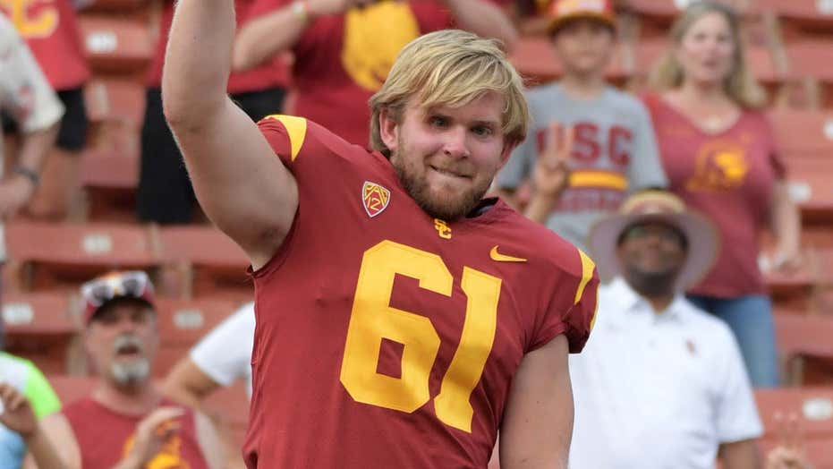 Jake Olson, former USC long snapper who is blind, thanks Clay Helton in touching tweet
