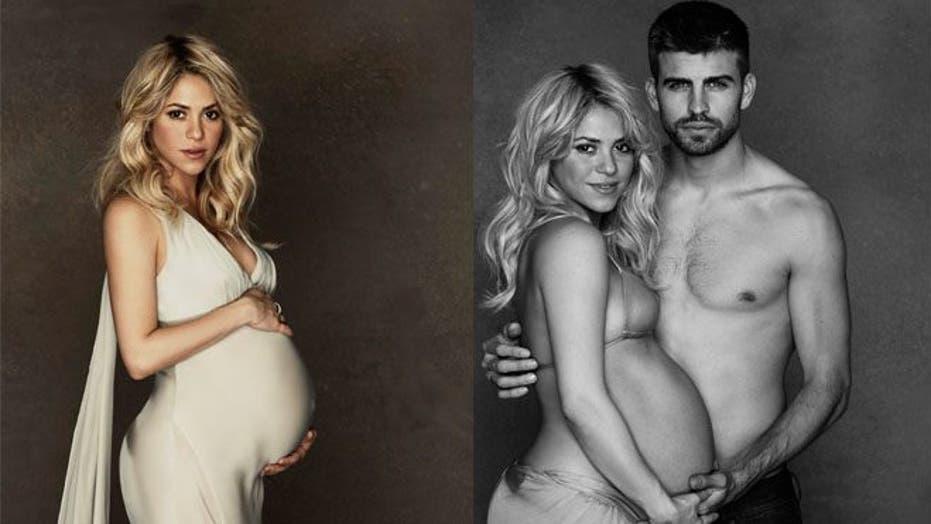 Shakira Shows Some Love to Boyfriend Piqué