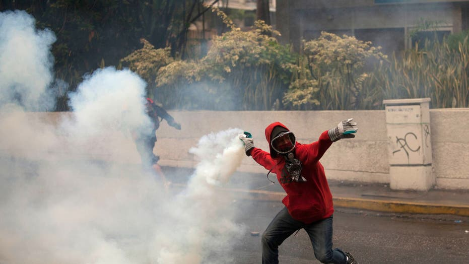 Venezuelan Security Forces Break Up Protest Camps