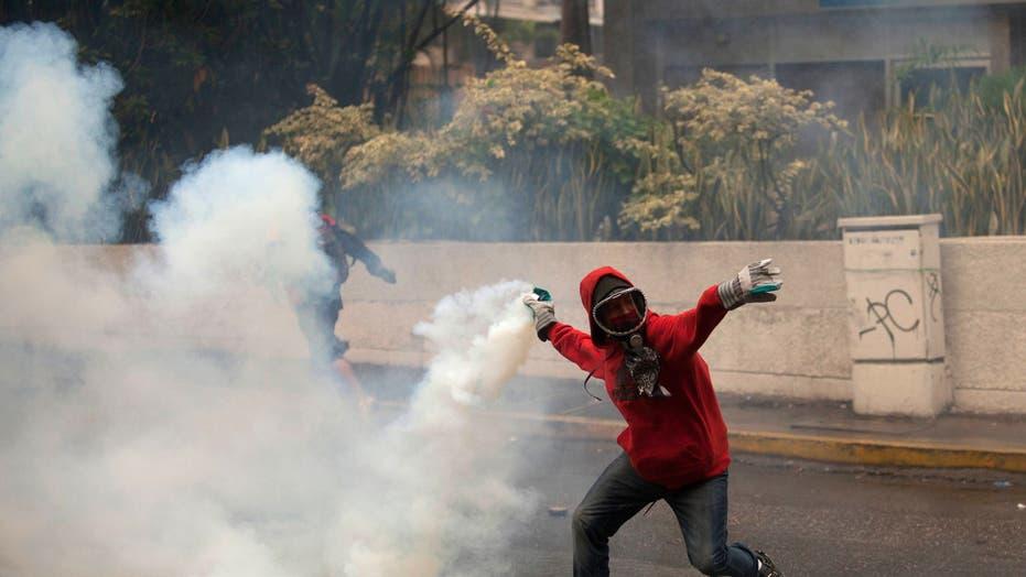 Venezuelan Security Forces Break Up Protest Camps