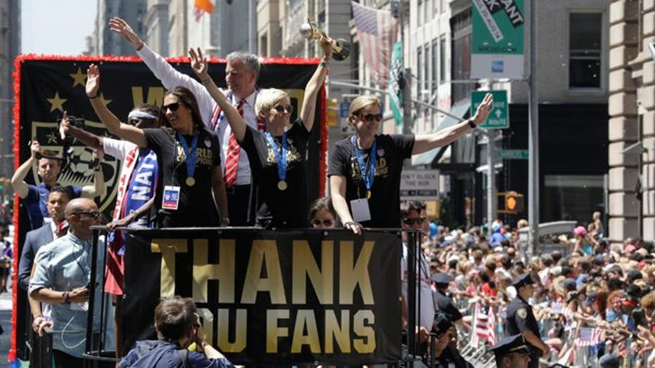 NYC honors U.S. women's soccer team after World Cup victory