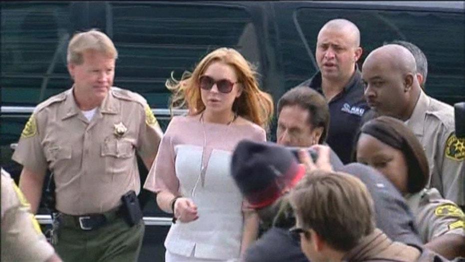 Lindsay Lohan's courtroom style evolution