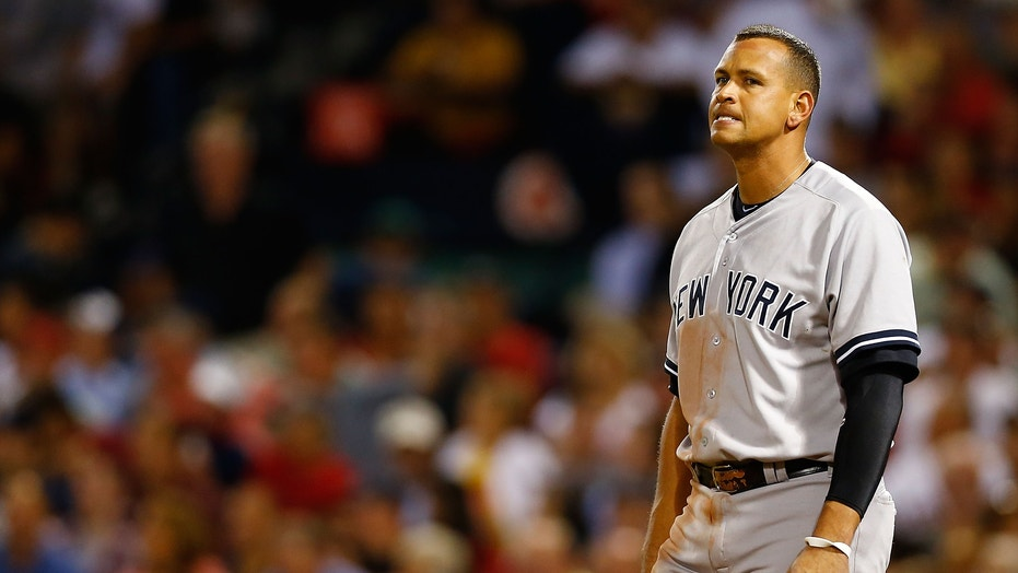 Alex Rodriguez Doing What He Knows Best