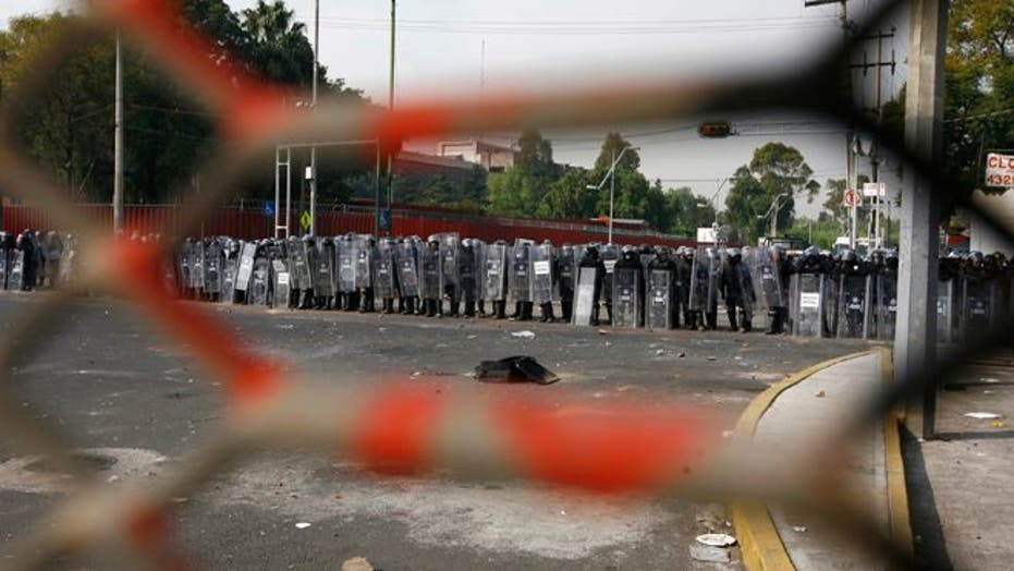Protests Mar Inauguration of Mexican President