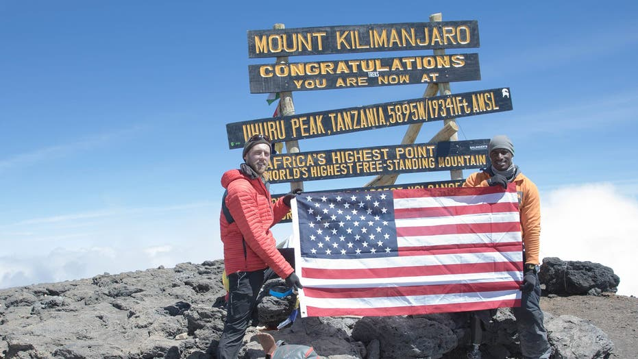 Marine veteran amputee climbs to the top of Mount Kilimanjaro for a good cause