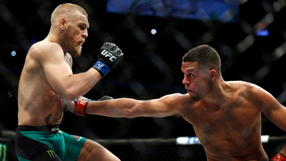 Grudge match: Nate Diaz and Conor McGregor began a fight at UFC 196 that hasn't ended