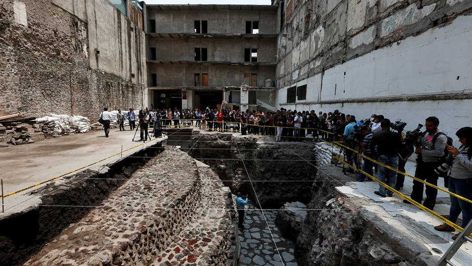 Aztec ball court and temple found behind Mexico City's cathedral