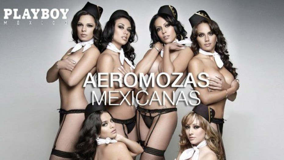 Jobless Mexicana Flight Attendants Pose for Calendar
