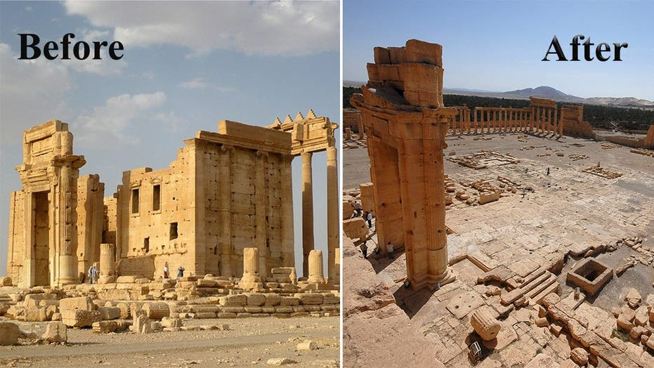 Palmyra before and after ISIS
