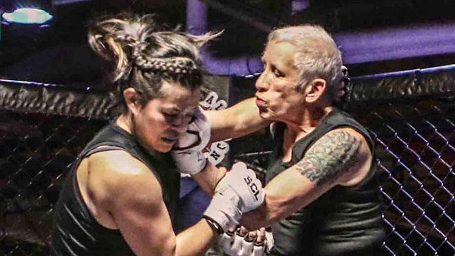 68-year-old MMA fighter Ann Perez de Tejada takes on Laura Dettman, 24