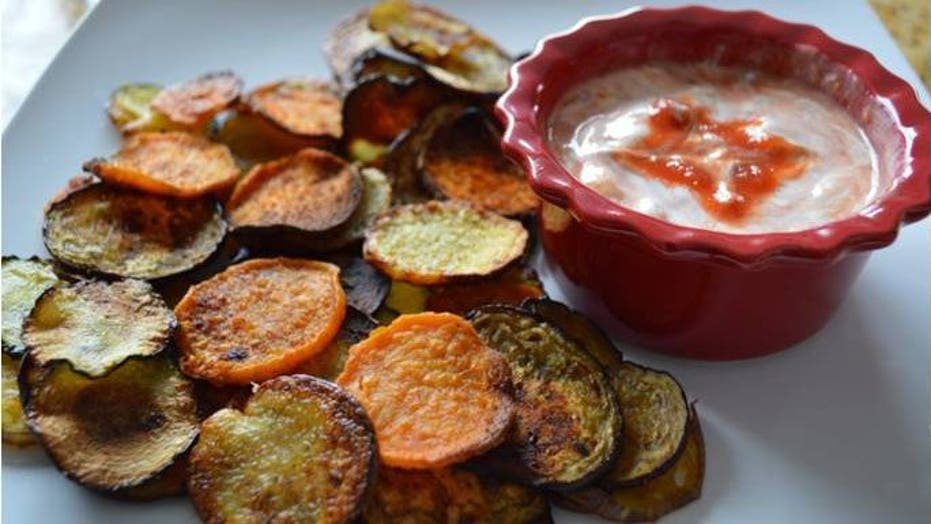 Baked Potato and Veggie Chips Recipe