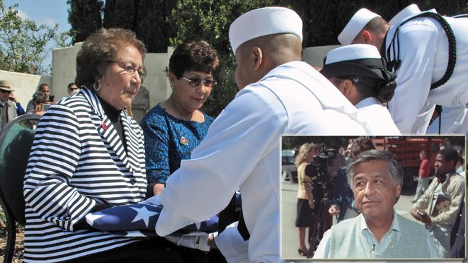Activist, labor leader … swabbie? Cesar Chavez honored for his U.S. Navy service