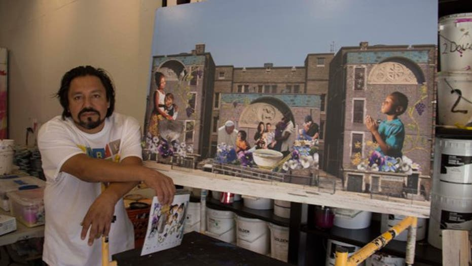 Philadelphia artist's mural to celebrate papal visit is a community affair