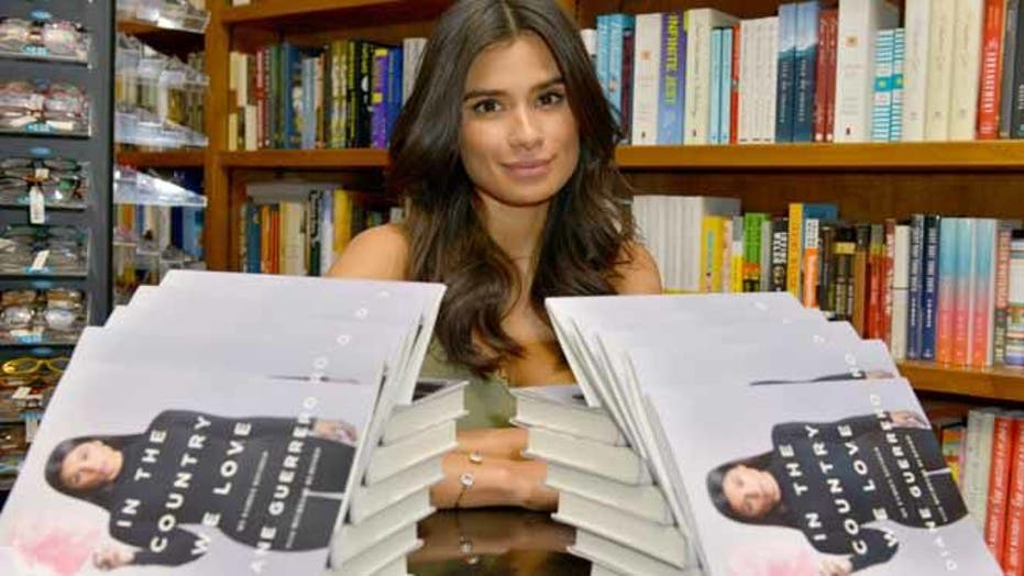 Diane Guerrero at her book signing 'In the Country We Love: My Family Divided'