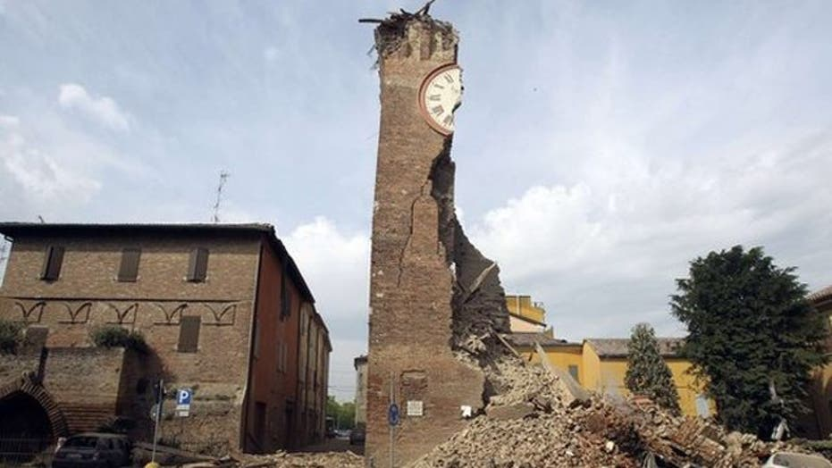 Historic buildings crumble after 6.0-magnitude earthquake hits Italy
