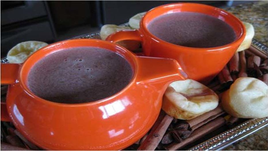 Mexican Hot Chocolate with Easy Cheesy Brazilian Bread Recipe