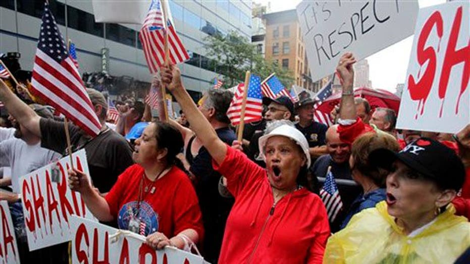 Dueling Rallies at Ground Zero Mosque Site