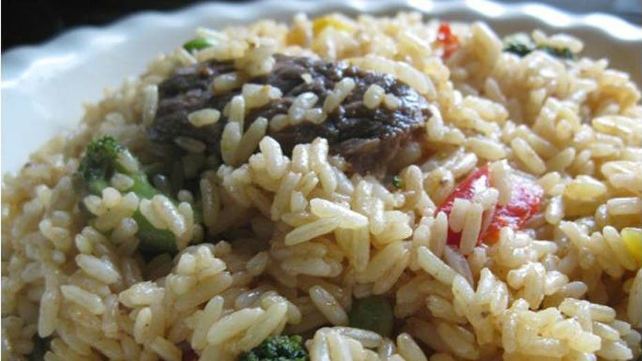 Pepper Steak Yellow Rice
