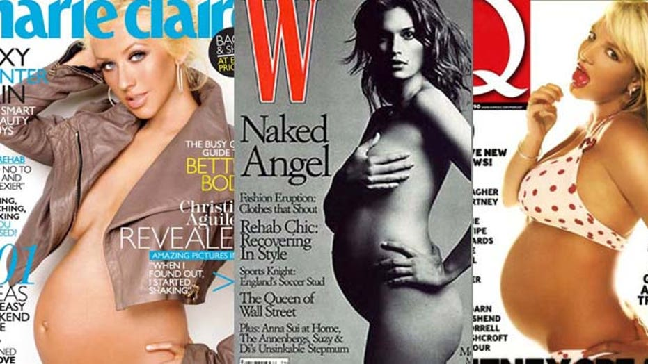 Pregnant celebs without the shy gene