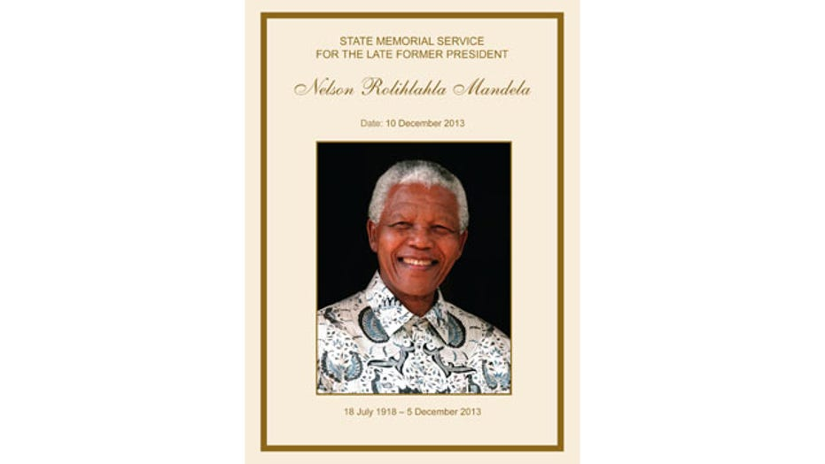 Nelson Mandela memorial service in South Africa