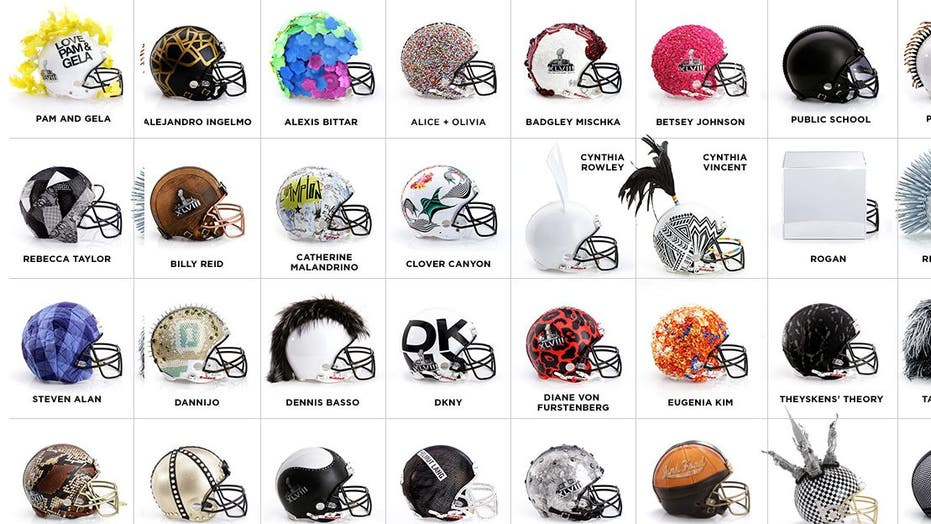 Helmets for a fashionable touchdown