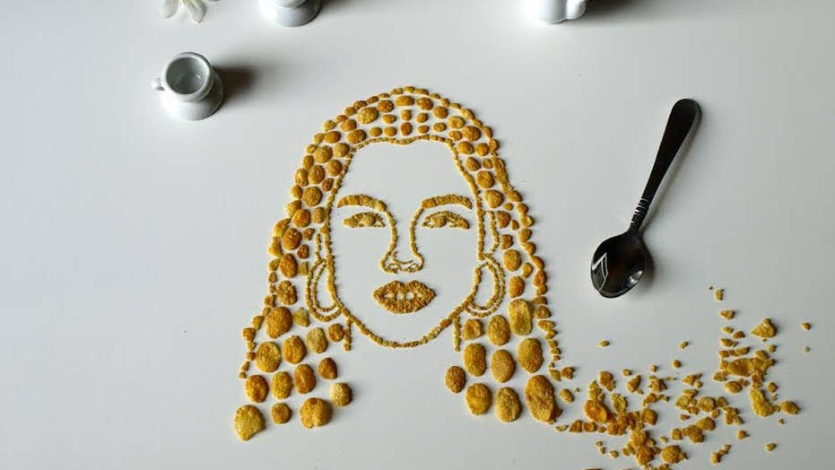'Celebrity Cornflake Art' makes musicians out of cereal