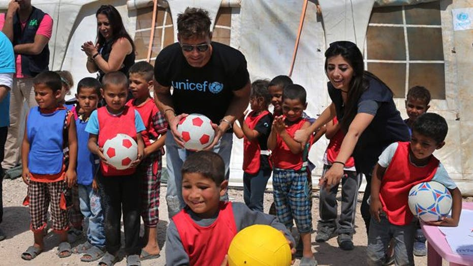 Ricky Martin visits Syrian refugees in Lebanon