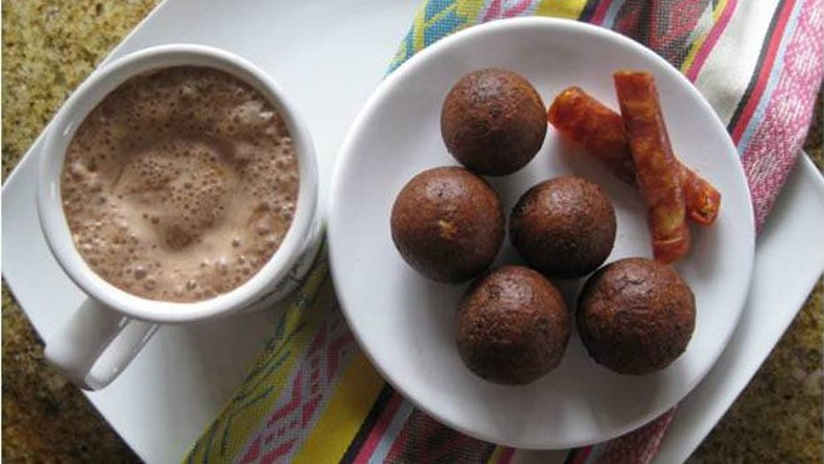 Buñuelos with Colombian Hot Chocolate