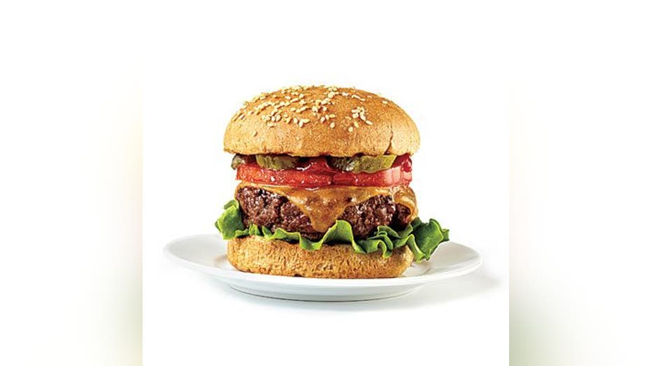 100-calorie burger toppings